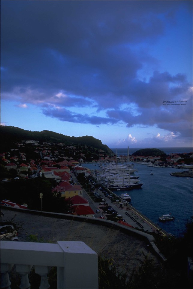 Sunset over Gustavia