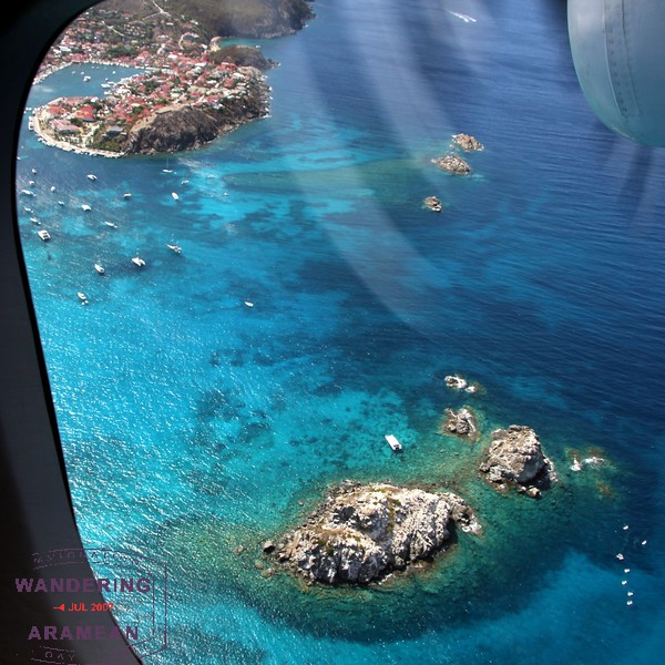 Gorgeous views on final approach into St. Barth's