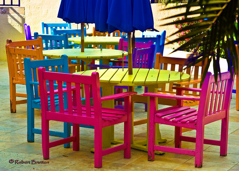 Brightly Colored Chairs