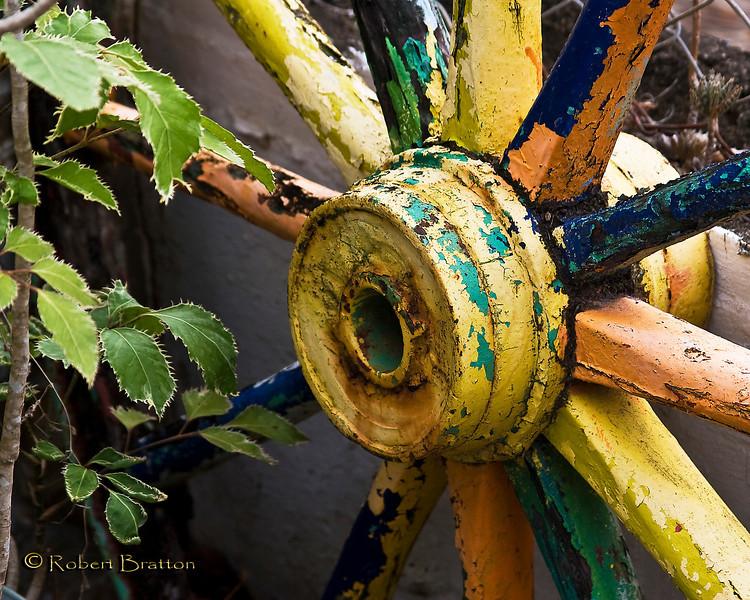 Colorful Wagon Wheel
