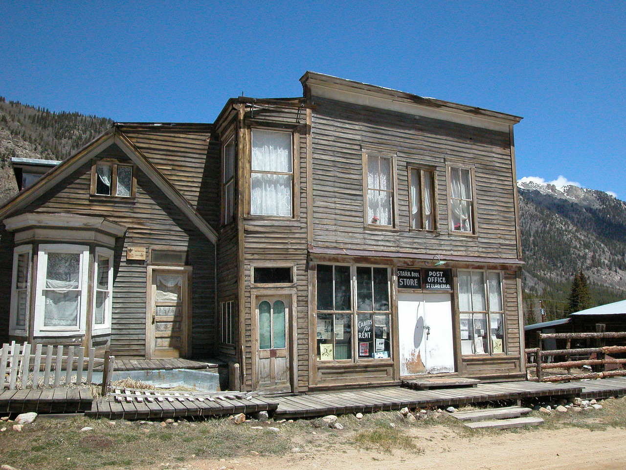 One of the main buildings in what is left of this town, set up for mining gold or silver during the late 1800s(?)