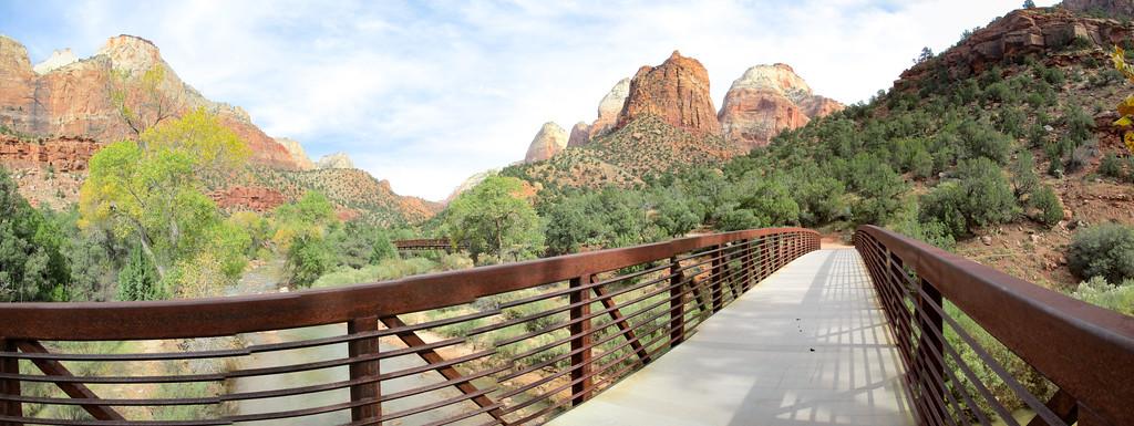 Panorama while going across a bridge on the bike/MUP.