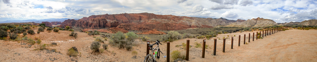 Panorama while overlooking Snow Canyon.