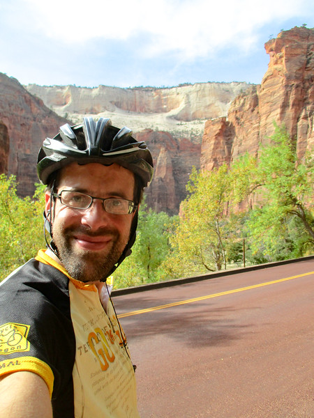 Selfie with the canyons.