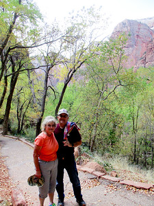 Fred and Linda while strolling through The Grotto at Zion.