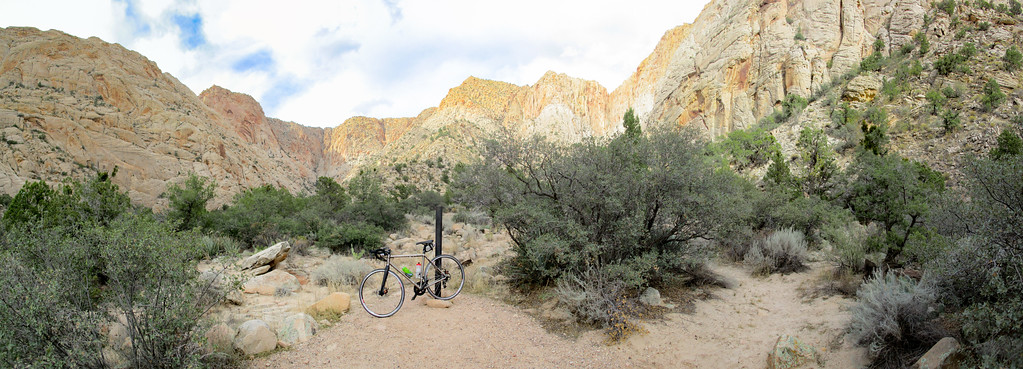 Bike picture at the end of West Snow Canyon.