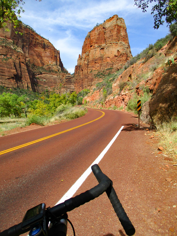Typical road in Zion NP. Pretty, winding, photogenic.