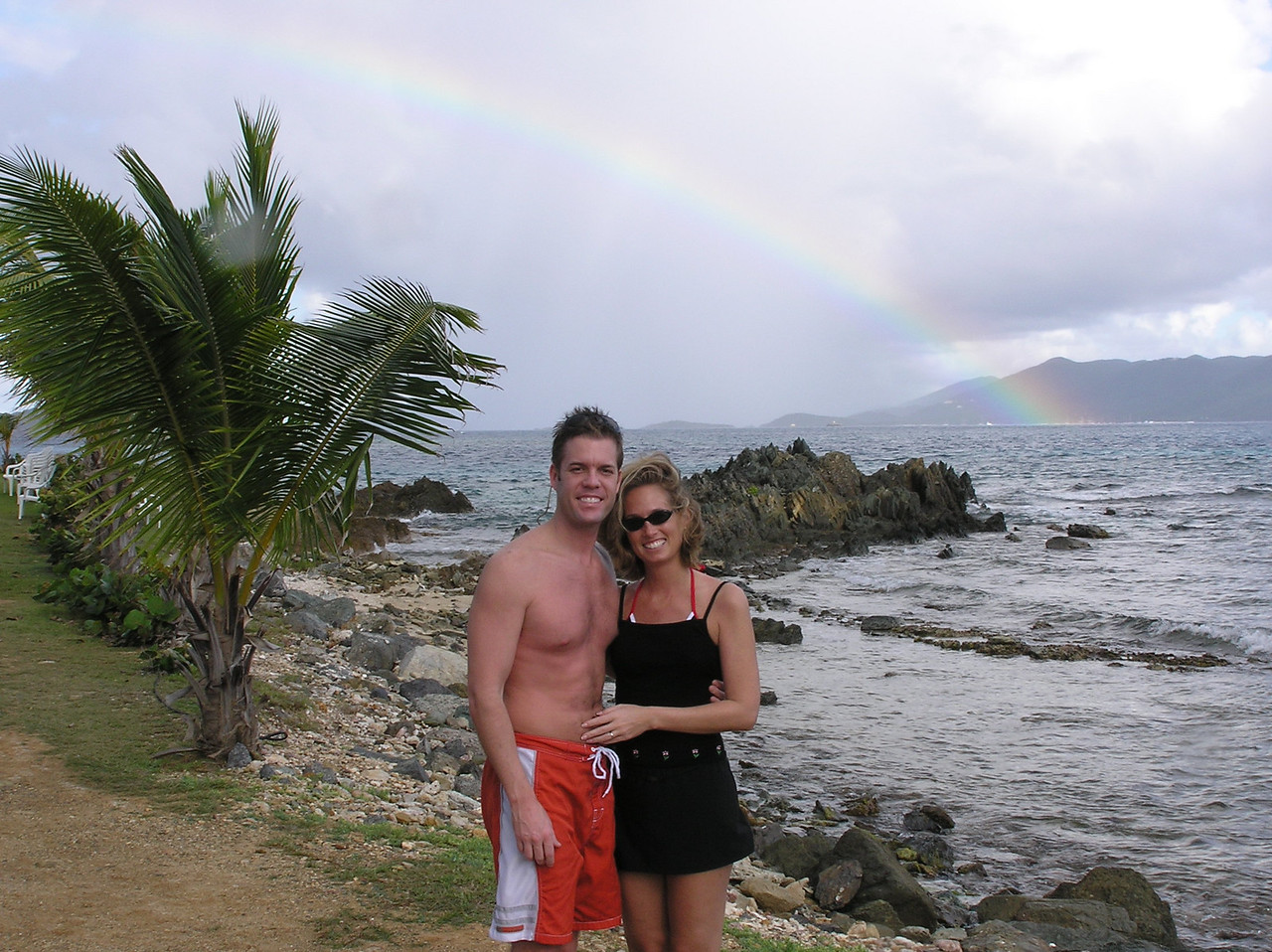 First day of our honeymoon and we get a rainbow...gotta be a good sign!