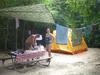 Campers at a bare site Cinnamon Bay, Virgin Islands Nat'l. Park