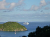 cruise boat coming in to St. John