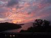 Big Maho Bay reflects pinks of a glorious sunset.