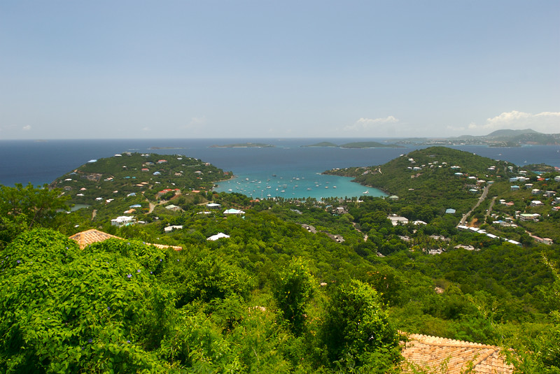 View of Great Cruz Bay, St John, USVI.  Taken from C'est Bleu Villa.