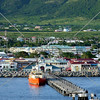 View at Basseterre Port in the Caribbean island of St Kitts.