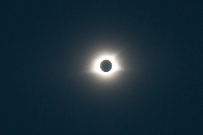 Totality! (1:16pm) 1/80 f/5 at ISO 3200 -- Total solar eclipse, Buder Park, southwest St. Louis County, MO, Aug 21, 2017.