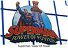 Superman - Tower Of Power - Zoom through a 23-story plunge at speeds over 60 mph.  Superman: Tower of Power is an extreme free-fall ride that carries you to the top of the 230-foot tower, giving you a bird's-eye view of the park. Then, after a few seconds of gut-wrenching anticipation, you plunge down at over 60 mph.