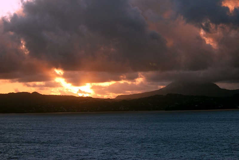 Sunrise in St Lucia on 11/22/06