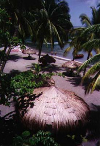 Anchastenet, view from up the hill St Lucia 1996