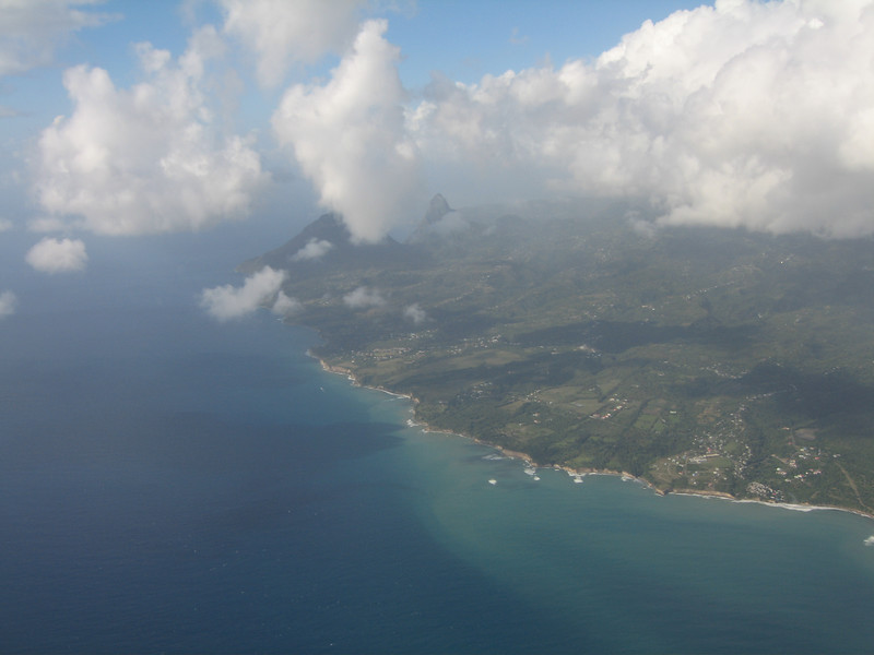 Views of St. Lucia from the plane...