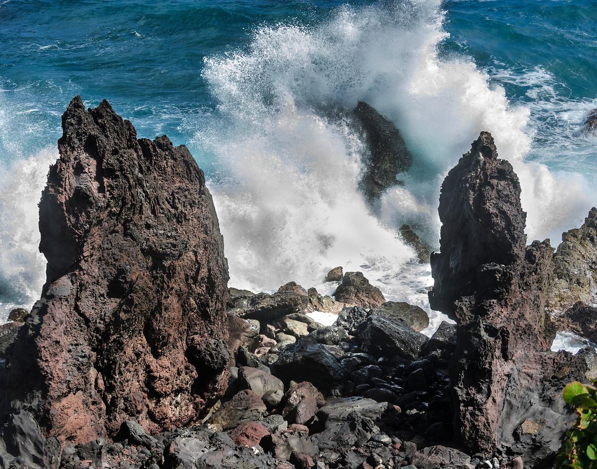 Blackrocks, St Kitts on the north side of the island