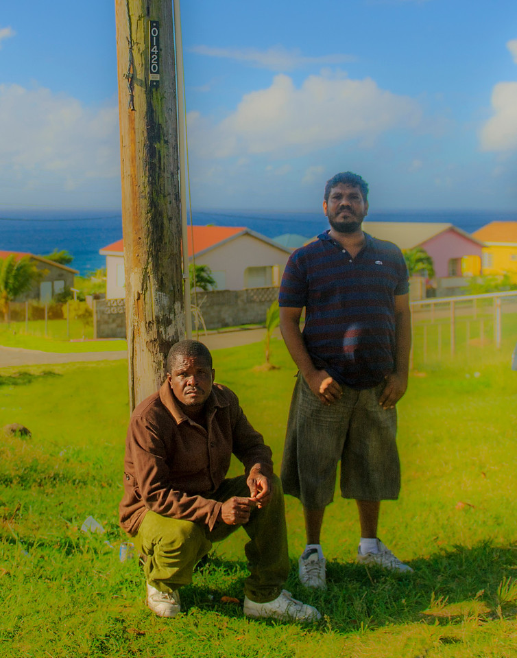 ST Kitts, waiting for the motor bus
