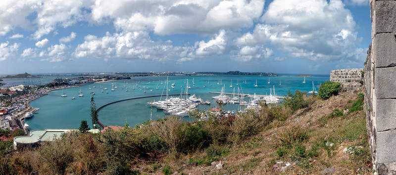 The Harbor at Marigot from Fort St. Louis