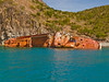 Shipwreck near snorkeling site, St. Kitts