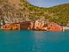Shipwreck near snorkeling site, St. Kitts