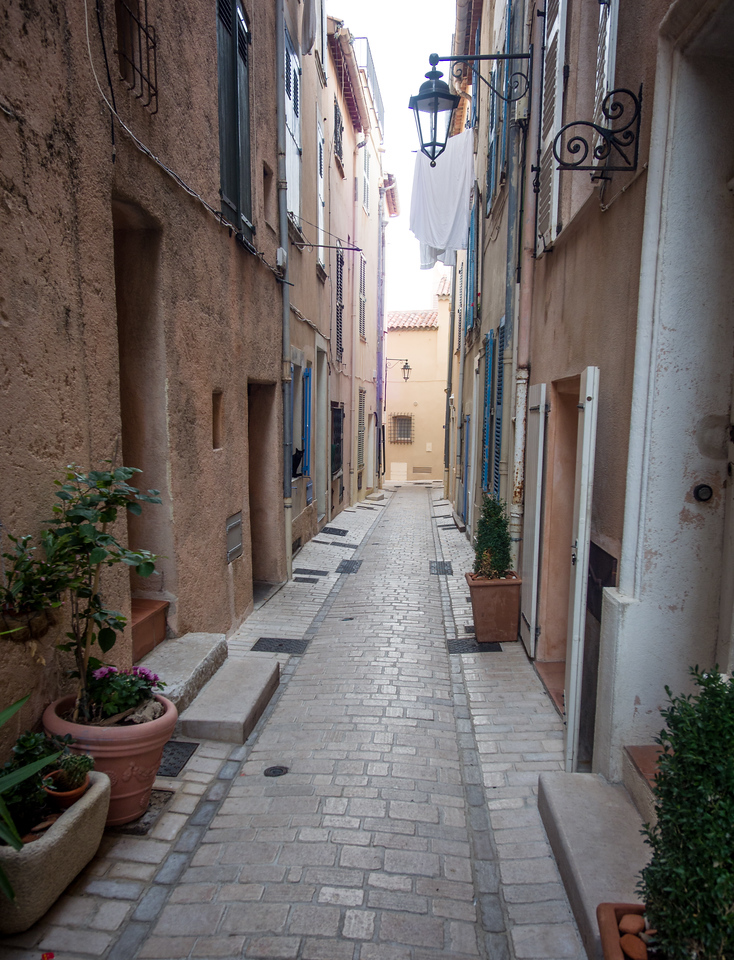 Streets of St Tropez at dawn