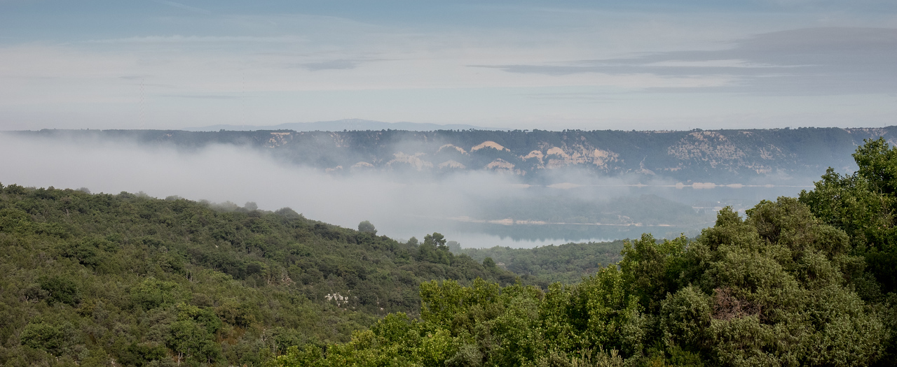 Early morning mist over lake St Croix