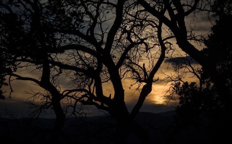Sunset near Grimaud