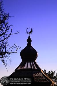 Twilight at St. Orres Inn, Gualala, CA.