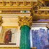 Malachite column and mosaic icons