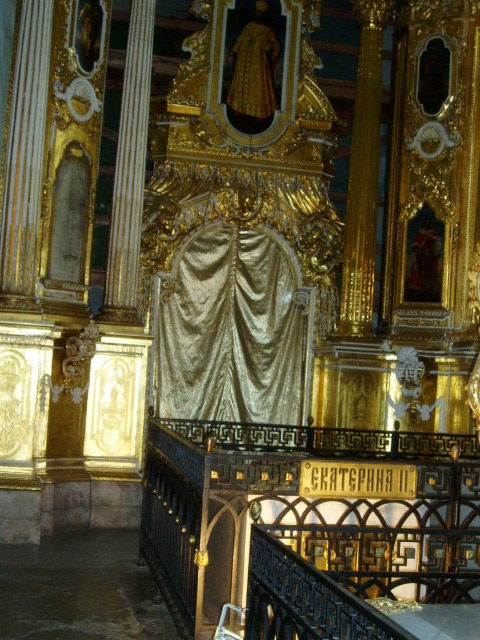 Catherine II's tomb in Peter and Paul Church
