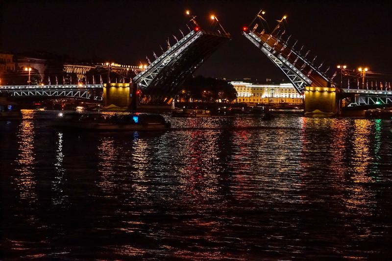 Bridge Opening on the Neva River
