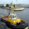 Pilot boat at the Port of St Petersburg, Russia.