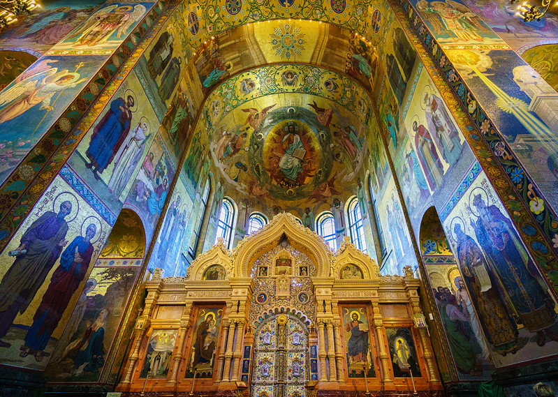 Interior of the Church of Our Savior on the Spilled Blood