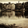Lake Scene in antique style