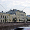 View along the river at St Petersburg, Russia.
