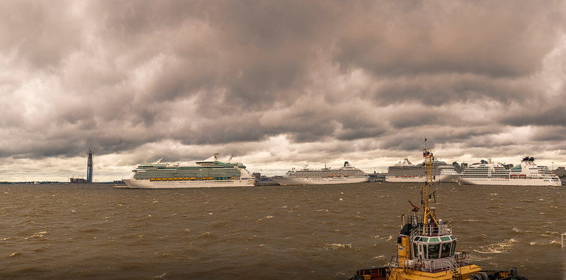 Cruise Ships docked in St. Petersburg