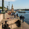 Tourist Stop along the Neva River