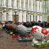 Line (Lion?) to the Hermitage