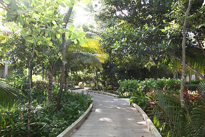 Path to villas and beach winds through entire resort.