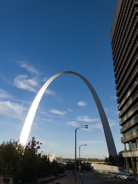 Walking to the Arch