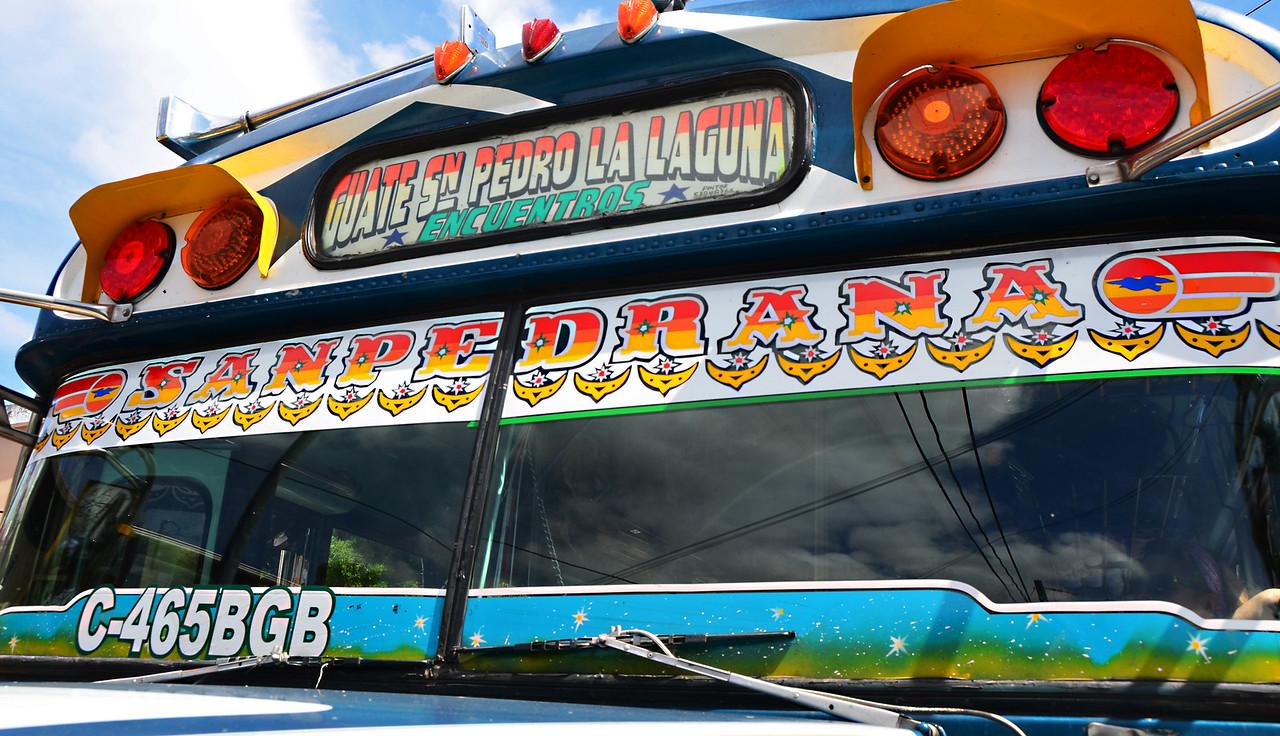 "The ubiquitous Guatemalan ""Chicken Bus"""
