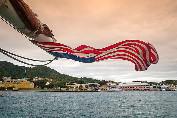 Christiansted and Flag from the stern of Roseway_photo_Ted_Davis_3104302639