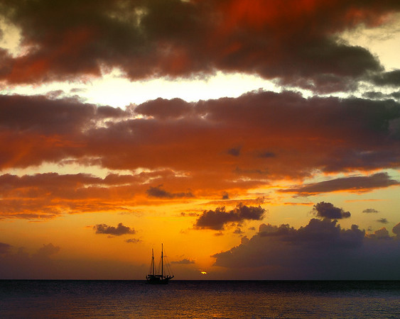 Sunset in Frederiksted