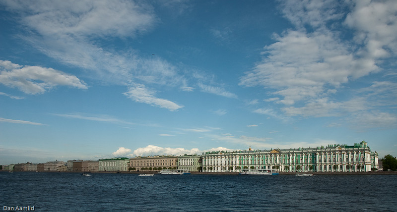 The Hermitage Museum,<br /> St.Petersburg, View from the Palace Bridge