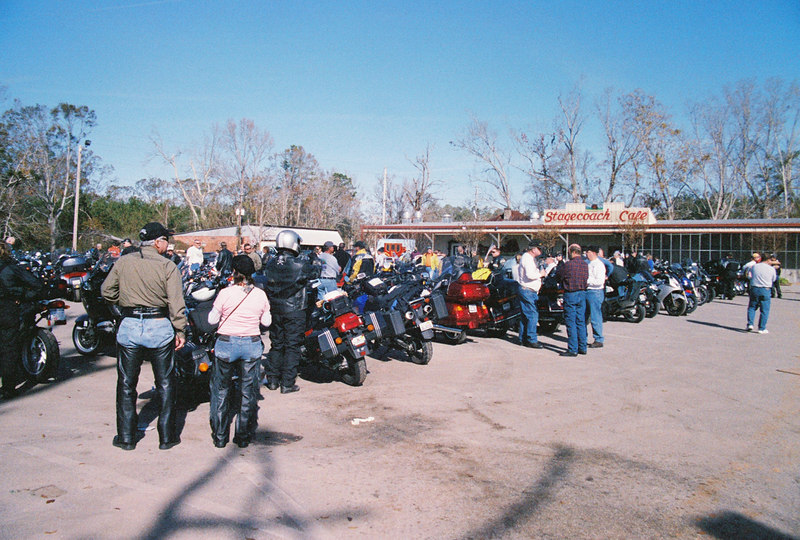 Each year hundreds of riders gravitate to tiny Stockton, Alabama for a ride to eat event. Over 600 attended tis year.