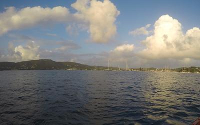 sailboat cruising at St Barts
