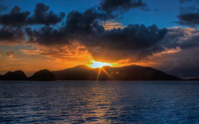 Isle de Saint at sundown
